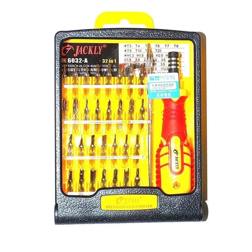 Bộ tua vít đa năng 32 món Jackly JK6032-A (Vàng)