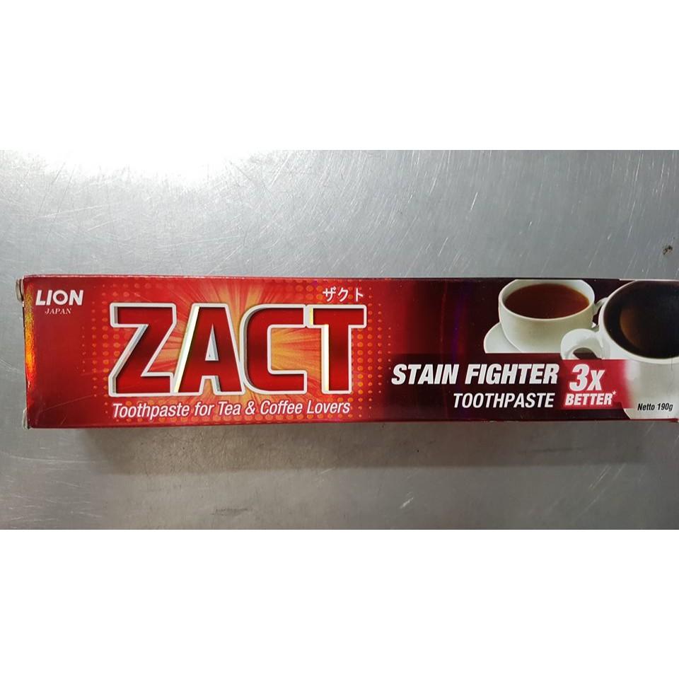 Kem đánh răng ZACT dành cho người uống trà - cà phê - hút thuốc 190g