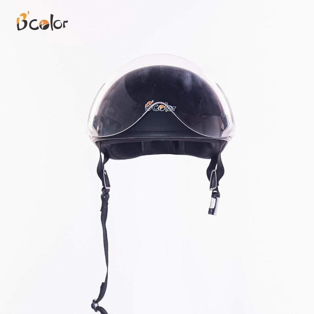 Mũ Bảo Hiểm 1/2 Kính Che Mặt màu Xanh Tím Than An Toàn, Thời Trang -  B'COLOR