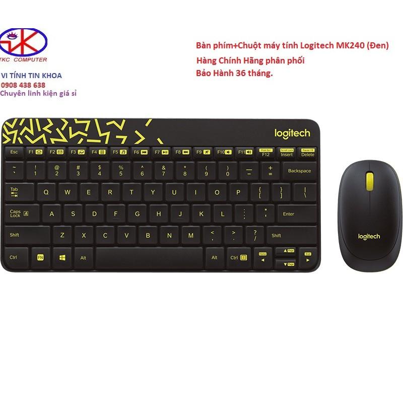 Bộ phím chuột không dây Logitech MK240 chính hãng. - 2863785 , 72774532 , 322_72774532 , 419000 , Bo-phim-chuot-khong-day-Logitech-MK240-chinh-hang.-322_72774532 , shopee.vn , Bộ phím chuột không dây Logitech MK240 chính hãng.