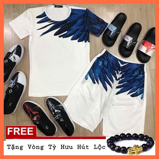 Bộ quần áo thun nam ngắn tay,bộ hè nam cánh chim chất thun lạnh có size