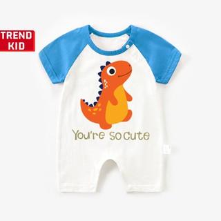 [Mã TREND20 giảm 15% đơn 99K] Bodysuit liền thân cho trẻ sơ sinh in hình Khủng long cute Michley