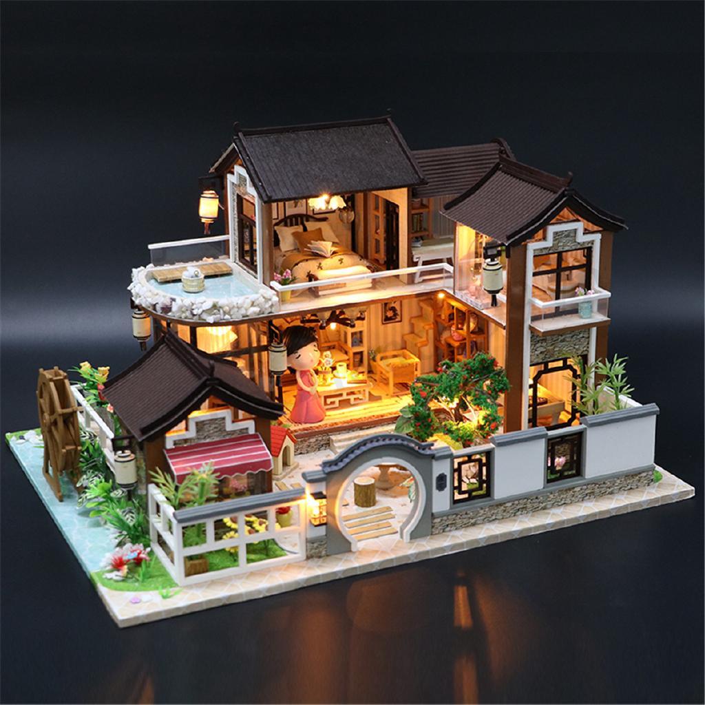 Mô hình ngôi nhà búp bê tự làm trang trí nội thất