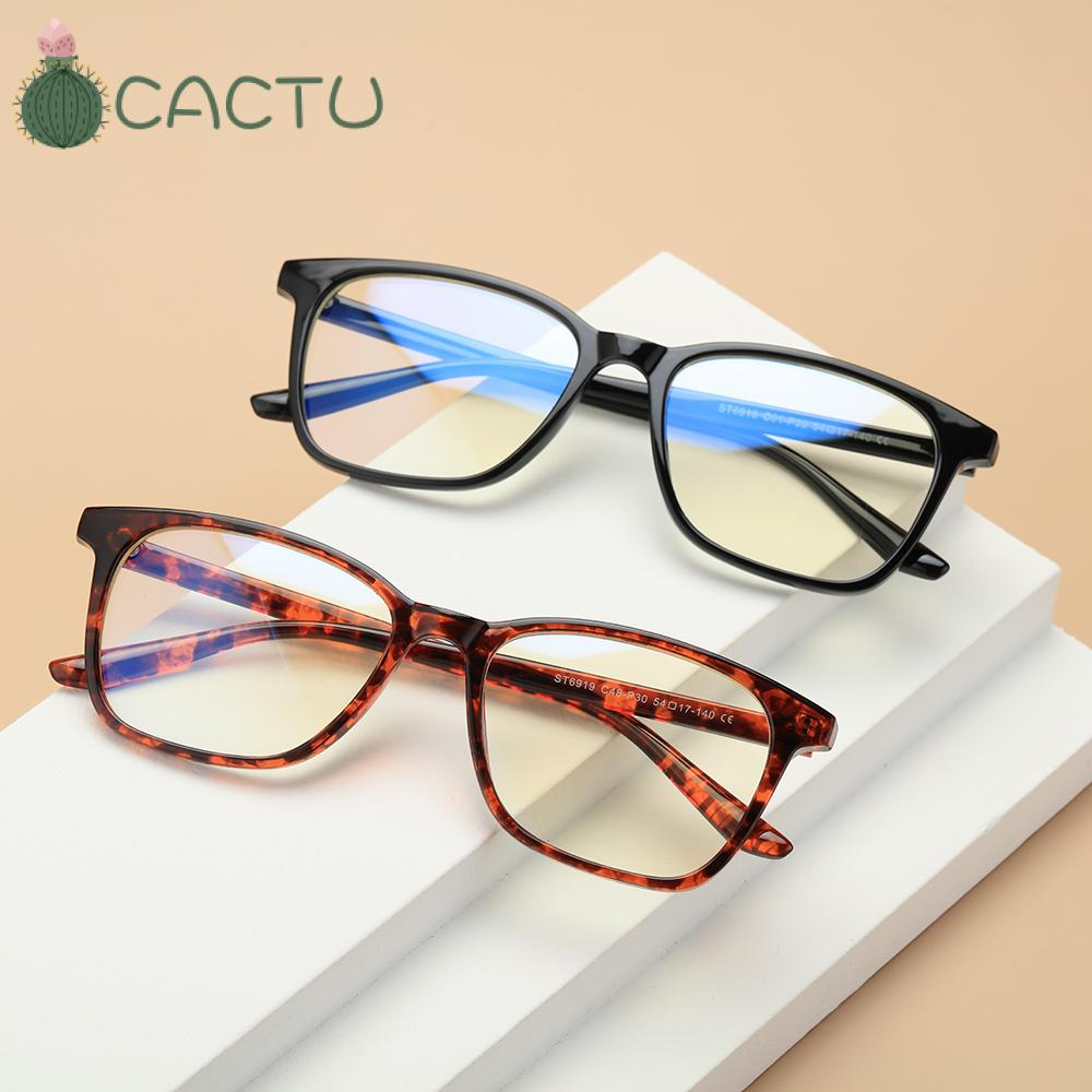 🌵CACTU🌵 Vision Care Blue Light Blocking Cut UV400 Unisex Glasses Computer Glasses Lightweight Retro Frame with Spring Hinges Nerd Reading...