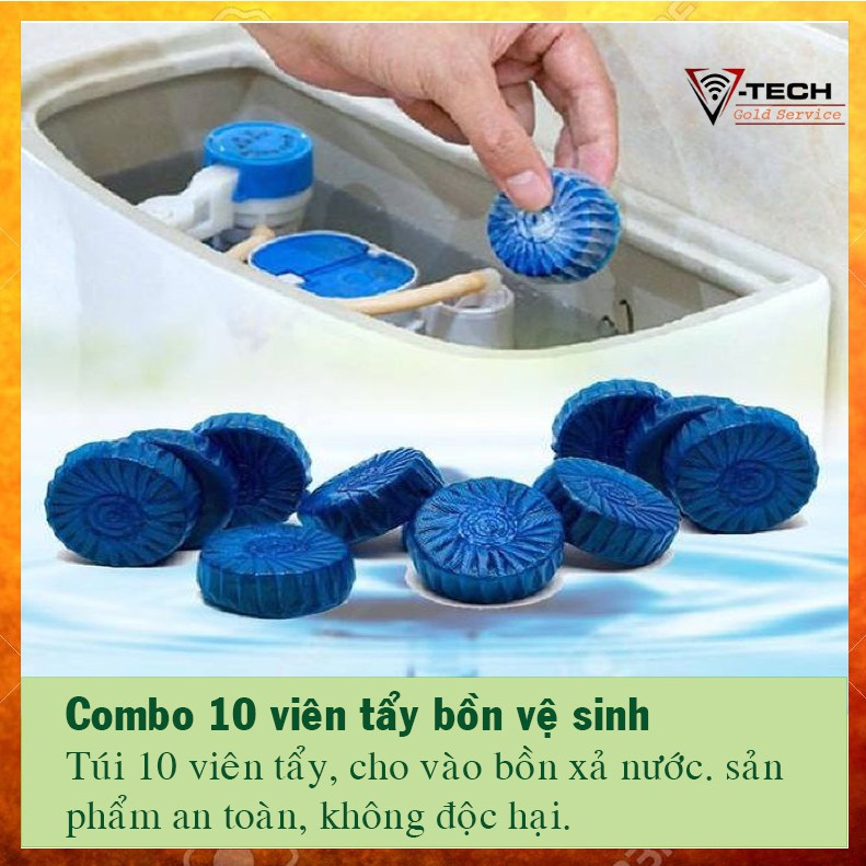 10 viên tẩy bồn cầu loại bỏ vi khuẩn, mùi hôi, không độc hại - 2957488 , 1052664979 , 322_1052664979 , 39000 , 10-vien-tay-bon-cau-loai-bo-vi-khuan-mui-hoi-khong-doc-hai-322_1052664979 , shopee.vn , 10 viên tẩy bồn cầu loại bỏ vi khuẩn, mùi hôi, không độc hại