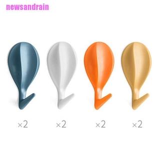 [cool]8Pcs Hot Air Balloon Wall Hooks Clothes Towel Hanger Self-Adhesive Bathroom