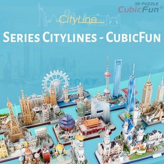 Bộ xếp hình lắp ghép CubicFun 3D – Mô hình thành phố CityLines Series
