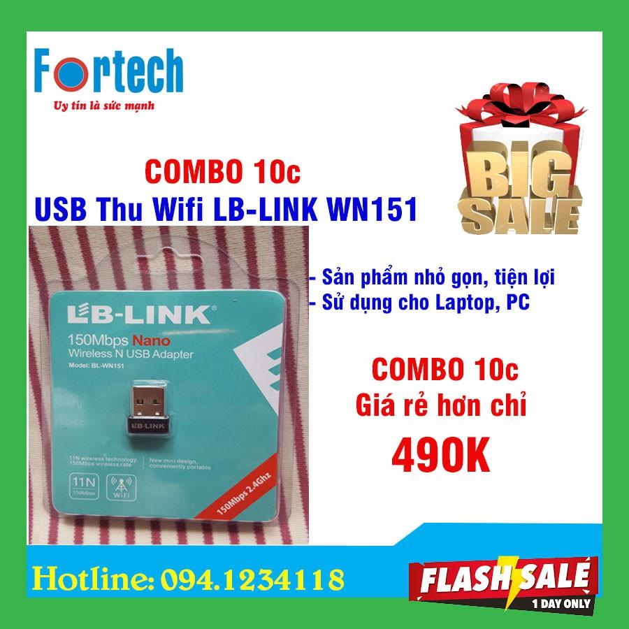 COMBO 10c USB thu wifi LB-Link WN151 – Bảo hành 12 tháng. Giá chỉ 490.000₫