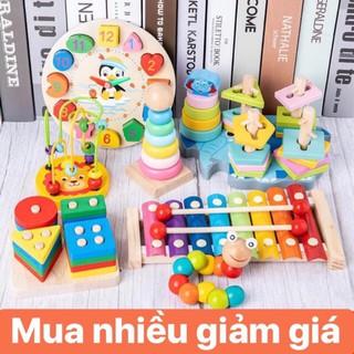 Combo 7 món đồ chơi gỗ cho bé phát triển trí tuệ – Chuyên Sỉ Đồ chơi gỗ