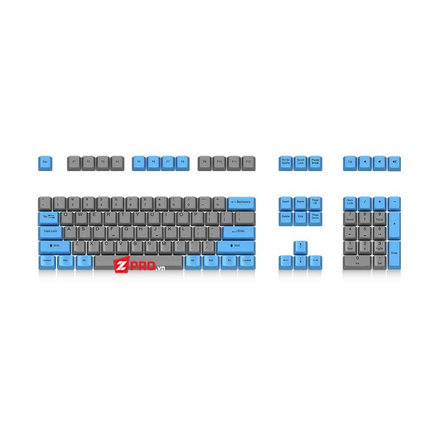 Bộ Keycap Ducky PBT 108 phím Blue-Grey