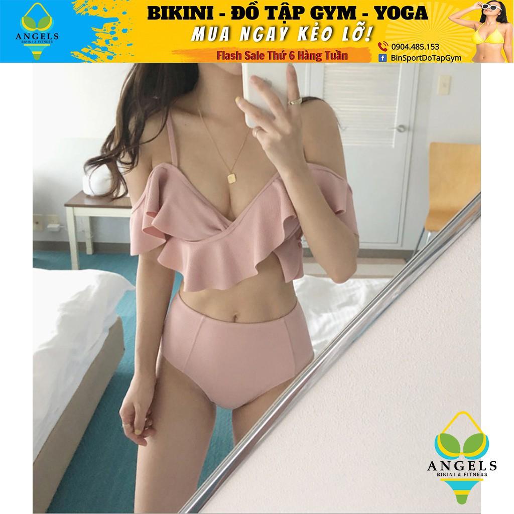 Bikini,Bộ Đồ Bơi Hai Mảnh Bèo Hồng, Hàng Nhập Đủ Size M L XL,BHN013 [ Giá Sỉ ]