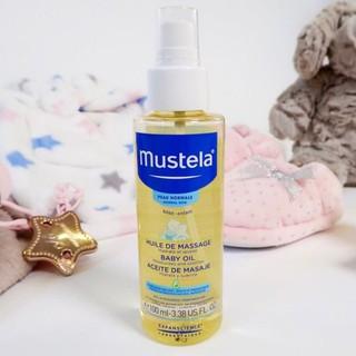 (HNBS) Dầu massage Mustela Baby Oil 100ml cho bé từ sơ sinh (Pháp)