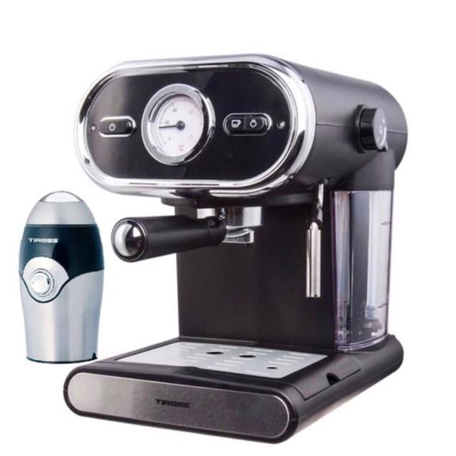 Máy pha cà phê Espresso 15 bar Tiross TS6211 tặng máy xay TS532