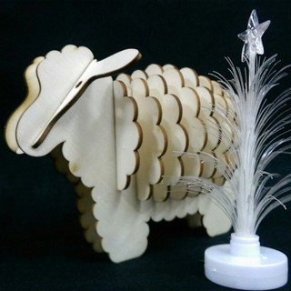 Mô hình đồ chơi cừu đồ chơi bằng gỗ, Đồ chơi lắp ghép Thông minh, đồ chơi an toàn cho trẻ