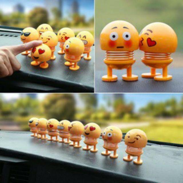 Emoji Lò Xo Lắc Đầu Đồ Chơi Giải Trí Trang Trí Xe Hơi