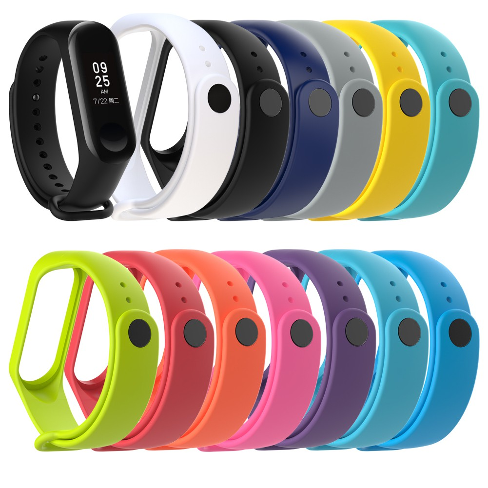 funnyhome Colorful TPU Replacement Bracelet Watch Strap Wristband for Xiaomi Mi Band 3