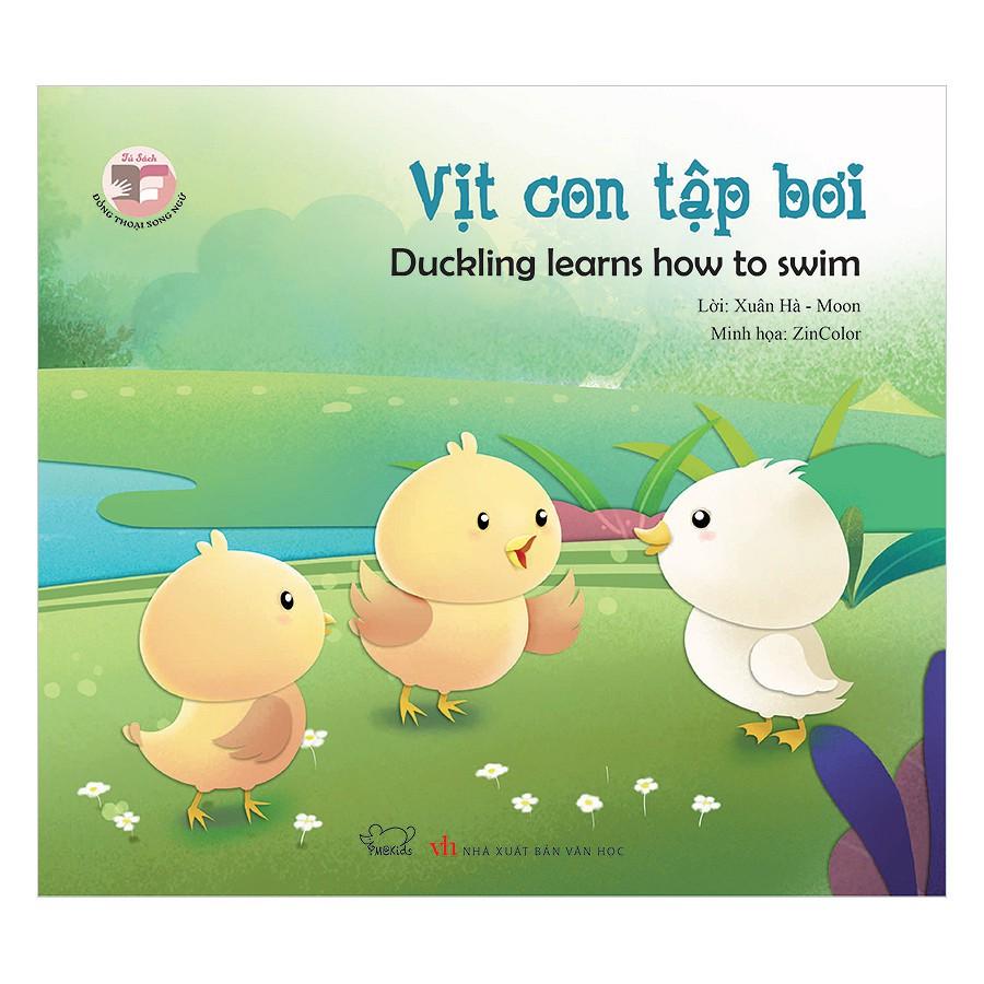 [Sách] Đồng Thoại Song Ngữ Anh - Việt: Vịt Con Tập Bơi