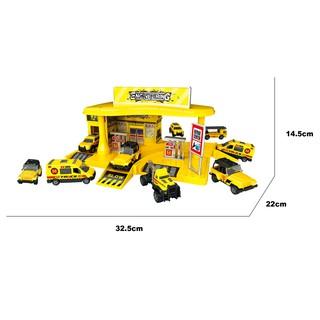 Đồ chơi lắp ráp xây dựng Trạm đỗ xe kỹ thuật cao tích hợp Six-six-zero-A103