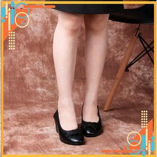 Giày đế xuồng - giày công sở HT.NEO da bò siêu mềm và êm chân kiểu dáng lịch sự, nơ da trang trí NU05 thumbnail