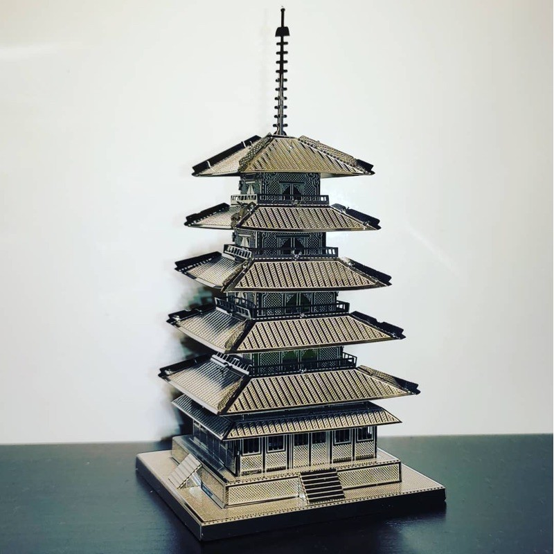 Mô hình 3D kim loại lắp ráp Chùa Kofukuji Nhật Bản [ Chưa Lắp ]