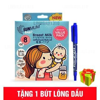 [SIÊU RẺ] [QUÀ TẶNG] Túi trữ sữa SUNMUM khoá 3 lớp chắc chắn.