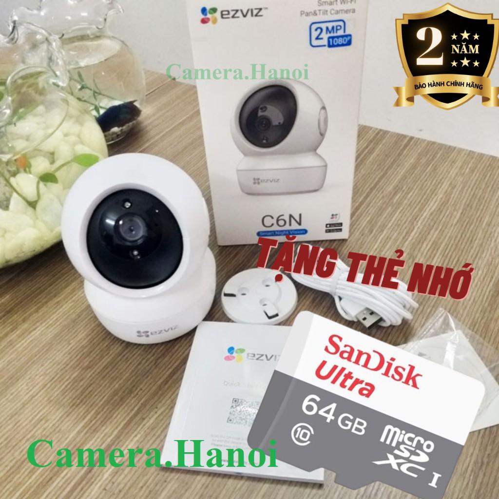 Camera Wifi IP Không Dây Giám Sát Gia Đình Ezviz CV246 C6N Full HD 1080P 2MP- Xoay 360-Đàm Thoại Loa 2