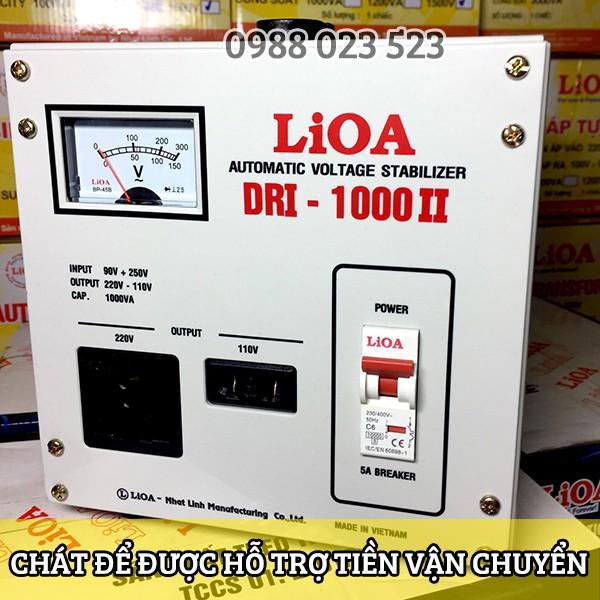 Ổn áp LIOA 1 pha 1000VA(1000W) Đời 2018 kéo điện từ 90v lên 220v DRI 1000