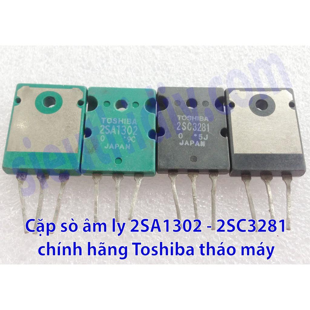 Transitor 15A 150W 200V 2SA1302 2SC3281 hãng Toshiba dùng cho âm ly