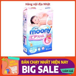 (CỘNG MIẾNG ) Bỉm Moony Tã dán quần nội địa Nhật đủ size Nb90 S84 M64 L54 XL38 XXL26