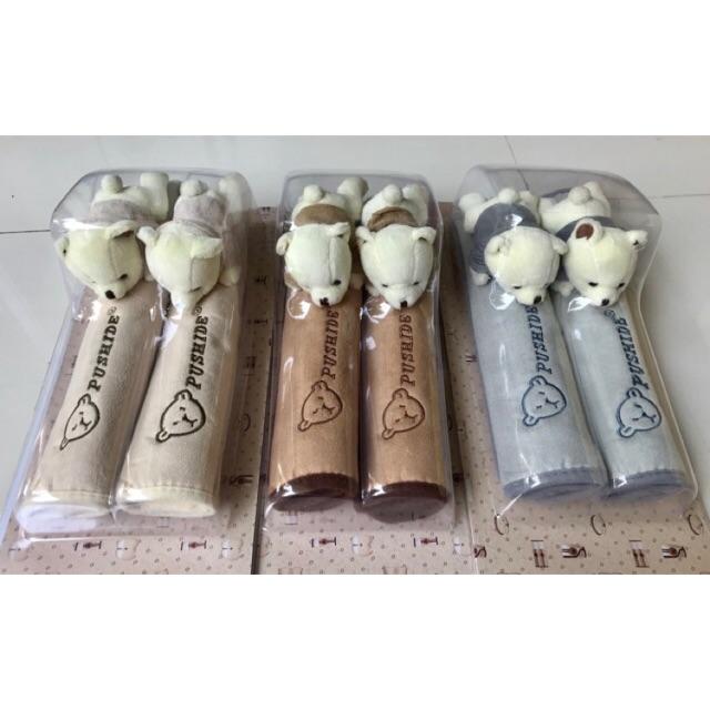 Bao Bọc Tay Nắm Tủ Lạnh - Seatbell Gấu Bông Thái Lan Cao Cấp (Bao/2 cái)