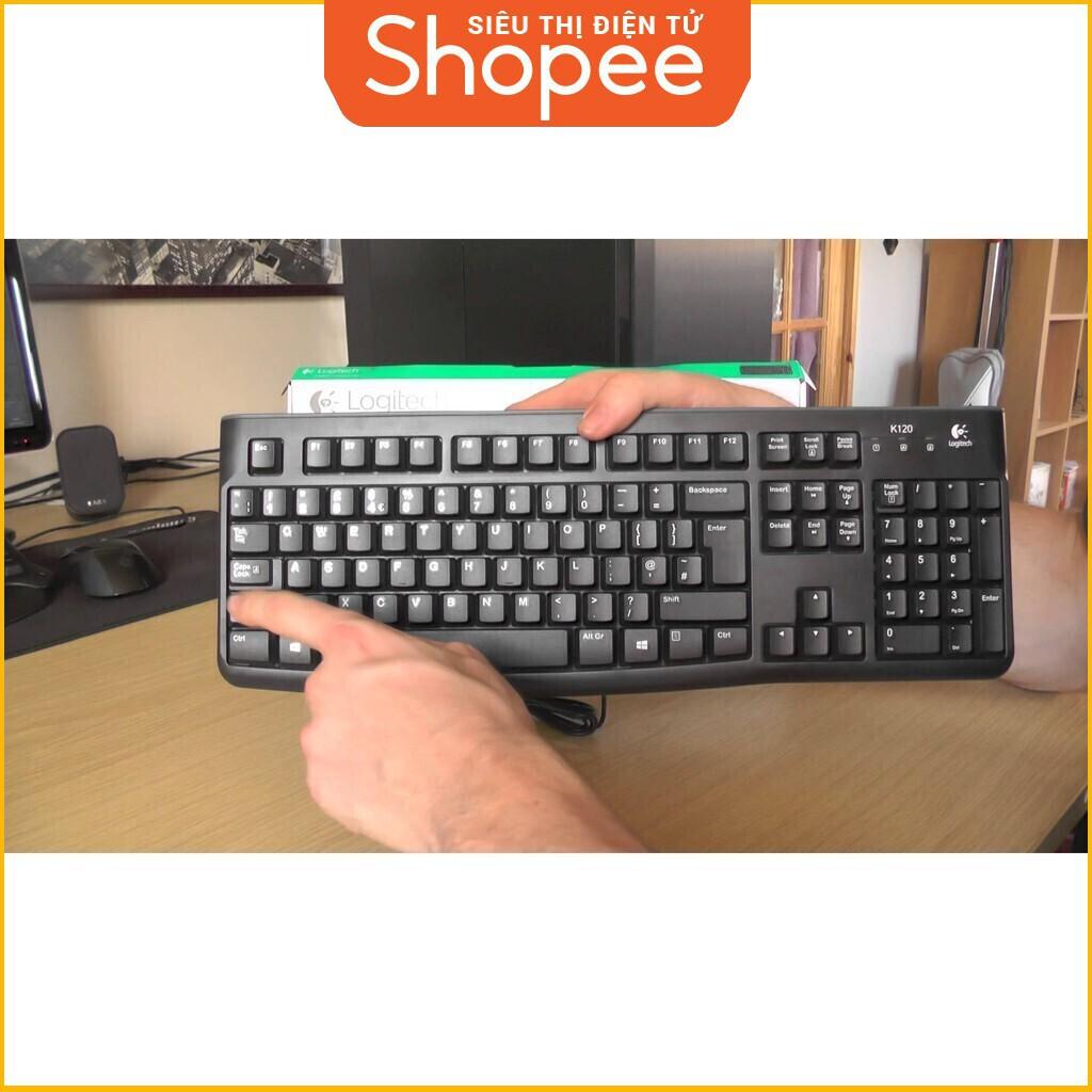 [Siêu Khuyến Mãi] Bàn Phím máy tính Có Dây Logitech K120 (Đen) - Hãng phân phối chính thức