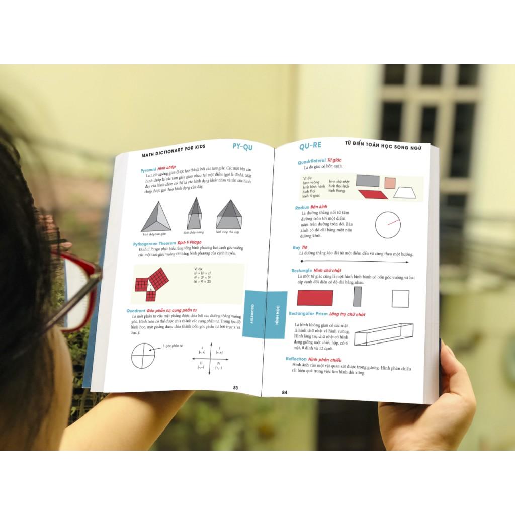 Từ điển Toán song ngữ – Math Dictionary for kids 7+ | Shopee