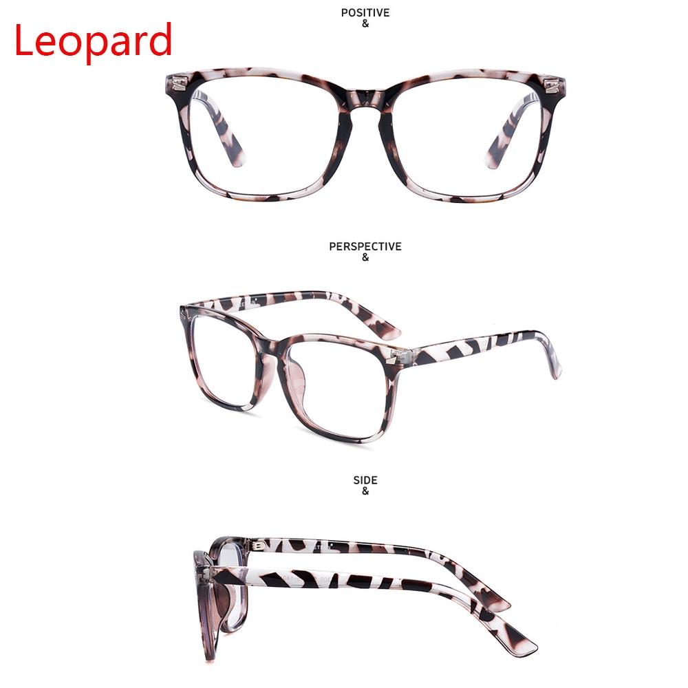MIHAN1 Eyewear Unisex Transparent Len Blue Light Blocking Anti UV Unisex Glasses