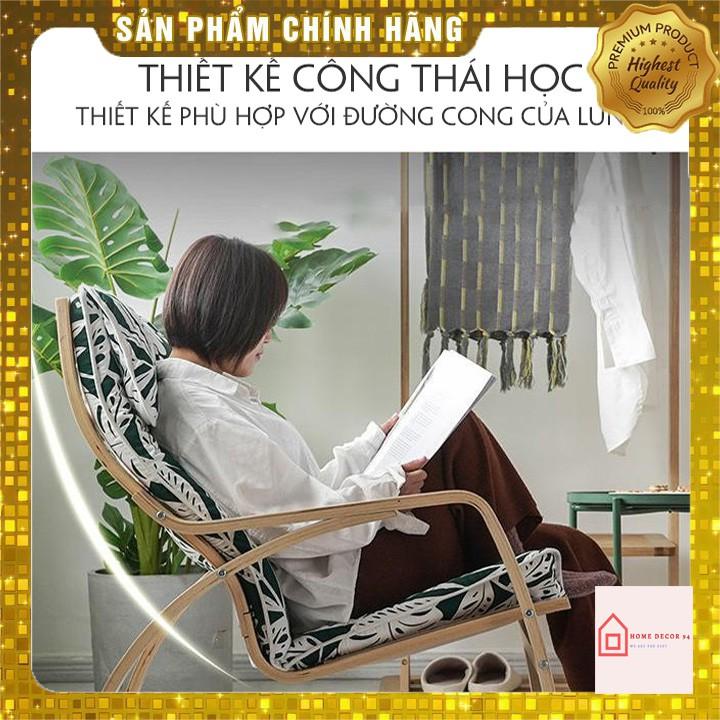 Ghế Poang bập bênh thư giãn đọc sách đệm mút êm, vải bọc cotton thoáng khí M006-2