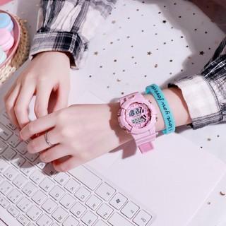 Đồng hồ điện tử nam nữ Sport Sp2 dây hoa cúc mặt tròn cb15