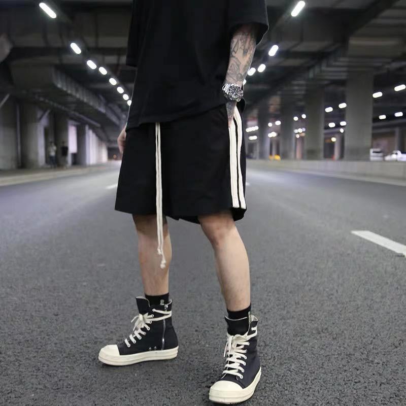 Quần short nỉ 2 sọc Jack Lane, quần short nam nữ Unisex