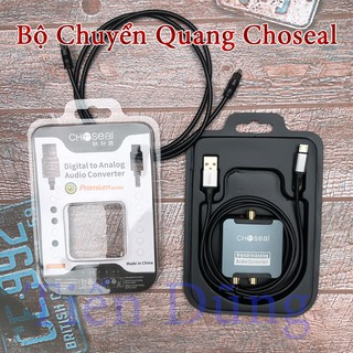 Bộ Chuyển Đổi Âm Thanh Quang Digital to Analog AV Choseal Tặng Kèm Dây Quang 4.0 Choseal Hàng Chính Hãng