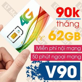 sim v90 Viettel 60gb gọi miễn phí nội mạng tặng 50 phút gọi ngoại mạng 60 GB trên một tháng