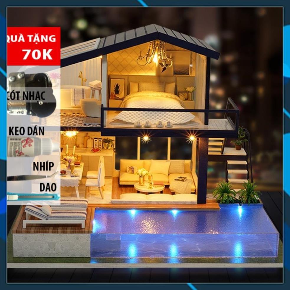 Mô hình nhà búp bê gỗ DIY Nhà búp bê Time Apartment – A066 Toy World