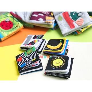 Sách vải Lakarose kích thích thị giác bé 0-1 tuổi