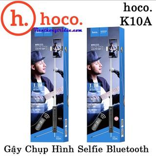 ⚡️TỰ SƯỚNG⚡️ Gậy Chụp Hình Selfie Bluetooth Hoco K10A 1.1m – Vật Liệu Cao Cấp Chống Va Đập – Nhẹ -Có Đèn LED Chiếu Sáng