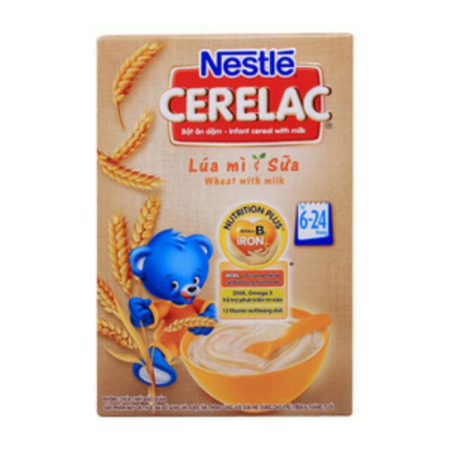 Bột ăn dặm Nestle Lúa mì sữa 200g