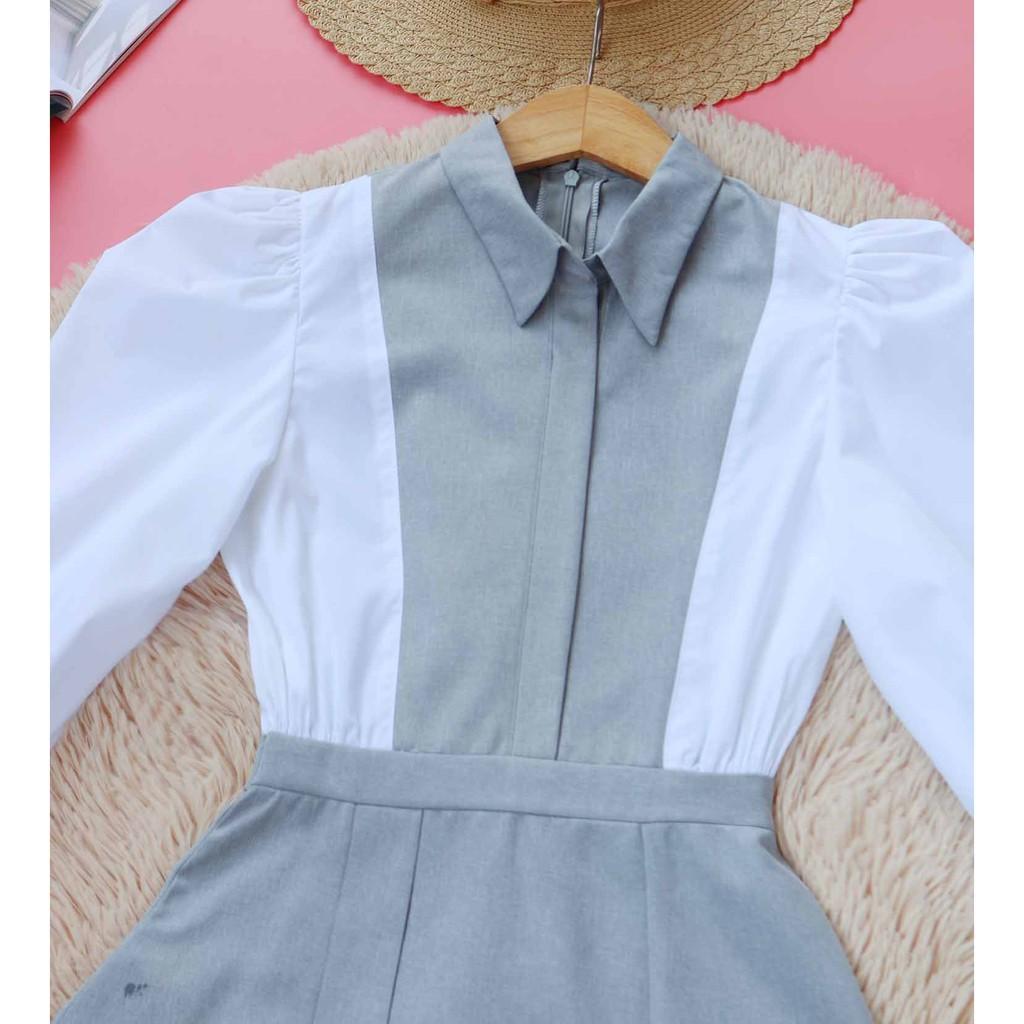 Mặc gì đẹp: Sang trọng với Đầm công sở nữ xinh thiết kế dễ thương cổ sơ mi nữ tính thanh lịch dáng chữ a