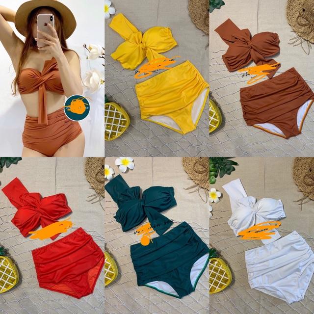 Bikini, Bộ Đồ Bơi Hai Mảnh Đi Biển Nơ To Secxy OZERI MS106
