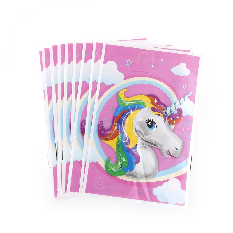 【tns】Unicorn Theme Party Gift Bags Candy Bag Loot Bags For Kids Birthday Decor【VN】