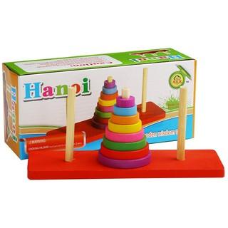 Đồ chơi gỗ Tháp Hà Nội đồ chơi trí tuệ bộ giáo cụ Montessori