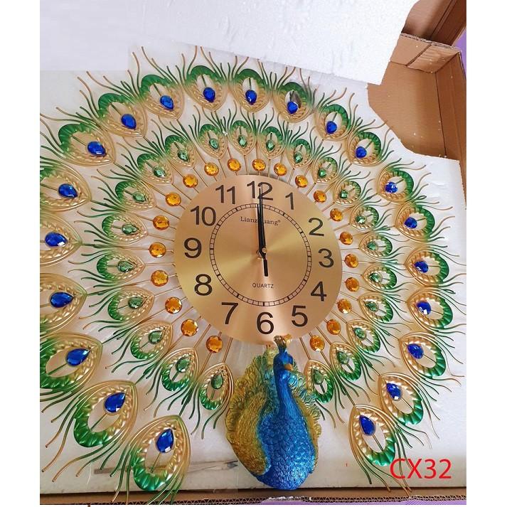 [XẢ HÀNG ĐÓN TẾT]-Đồng hồ trang trí chim công CX32