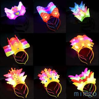 LED Light Up Headbands, Kids 3D Cartoon Glowing Hairband, Children Hair Hoop for Christmas Halloween Gift