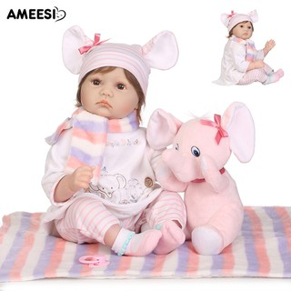 🔅🔆AMEESI 55cm Reborn Baby Vinyl Doll Simulation Accompany Toy
