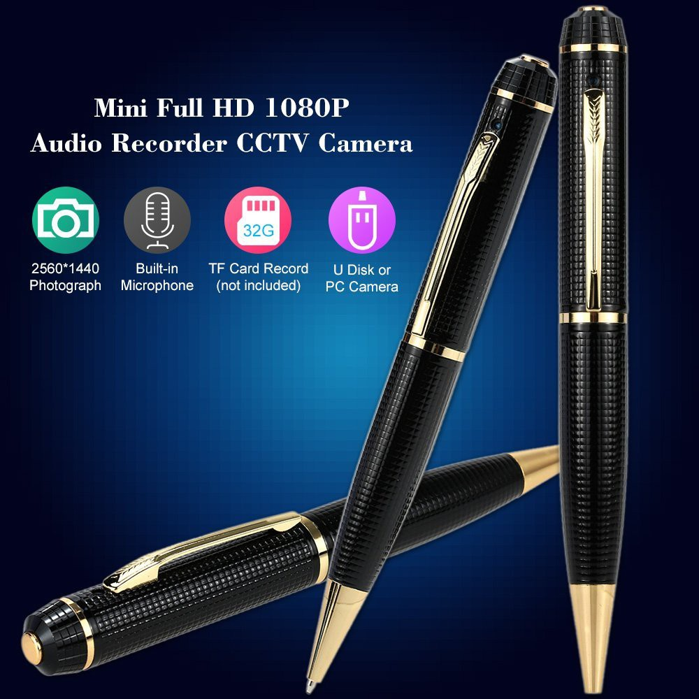 Camera Bút Elitek ECP-1180HD (Đen Phối Vàng)